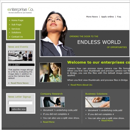 Enterprise Co. Template