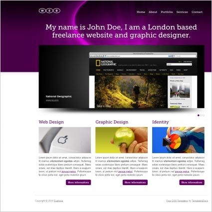 Euphoria 01 Template Free website templates in css, html, js format ...