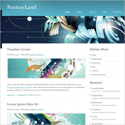 Fantasy Land Template
