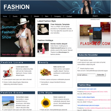 Fashion Free Website Templates In Css Html Js Format For Free - Fashion website templates