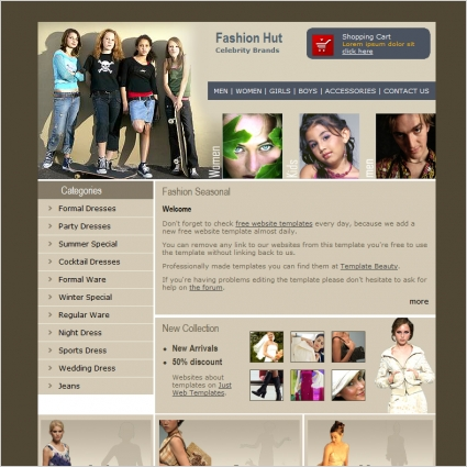 Fashion Hut Template