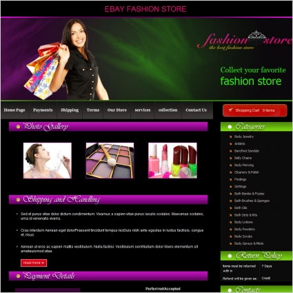 Fashion Template Free Website Templates 173 66kb