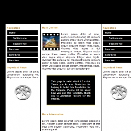 film template free website templates in css html js format for
