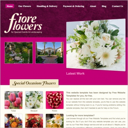 Fiore Flowers Template