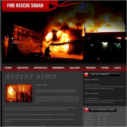 Fire Rescue Squad Template