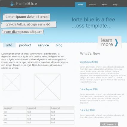 Forte Blue Template