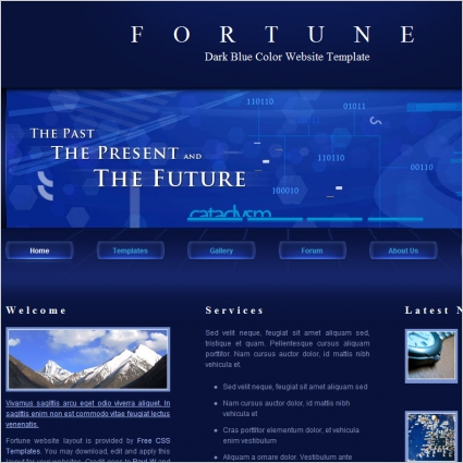 Fortune Free Website Templates In Css Js Format For