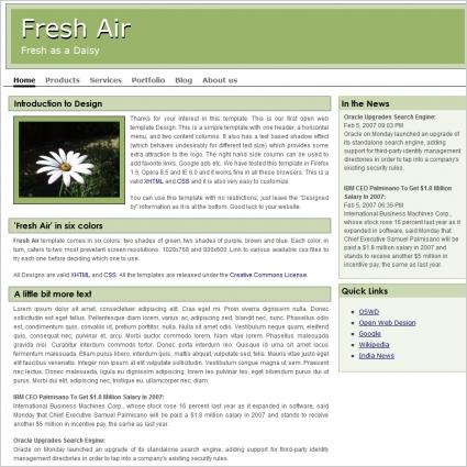 Fresh Air Template