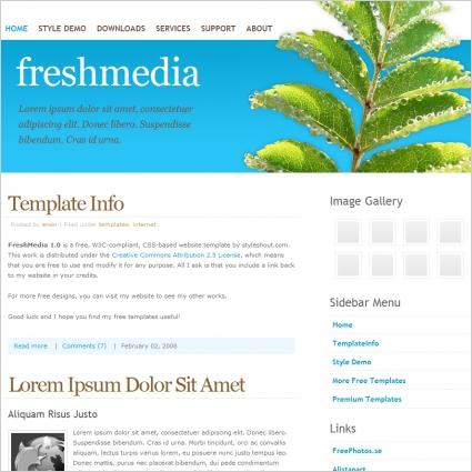Fresh Media 1.0 Template