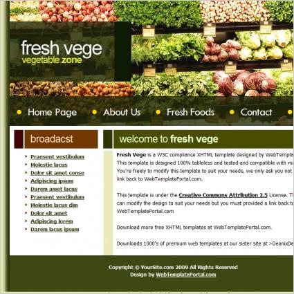 Fresh Vege Template
