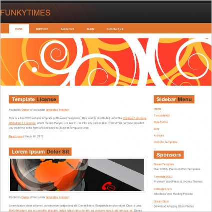 Funky Times Template