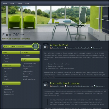 Furn Office Template