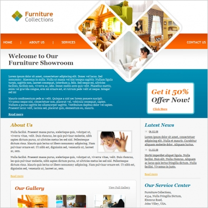 furniture collections template free website templates in css html
