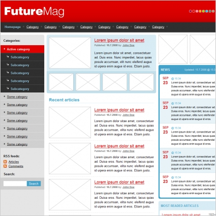 Future Mag Template