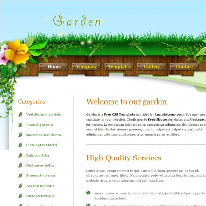 garden Free website templates in css, html, js format for ...