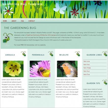 Gardening Bug Template