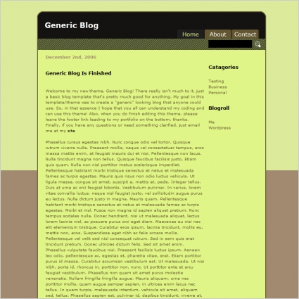Generic Blog Template
