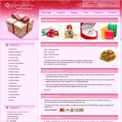Gift Gallery Template Free website templates in css, html, js format ...
