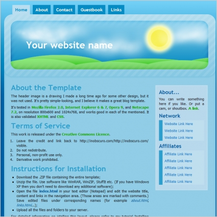 good morning template free website templates in css html js format