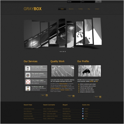 Service box free website templates in css, html, js format for.