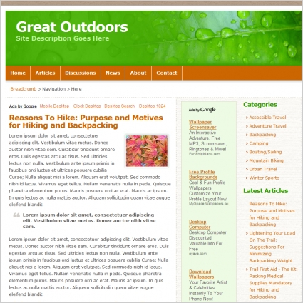 Great Outdoors Template