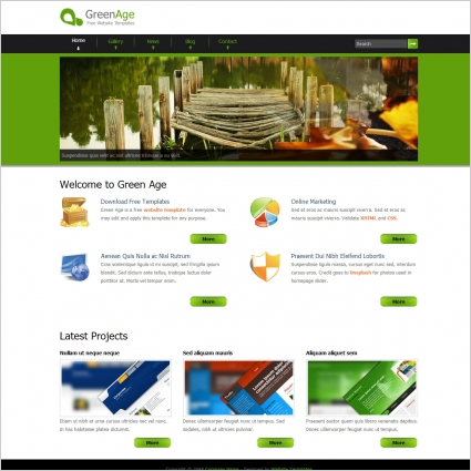 Free website template download with slider flat web template with.
