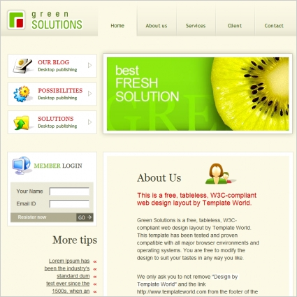 Green Solutions Template
