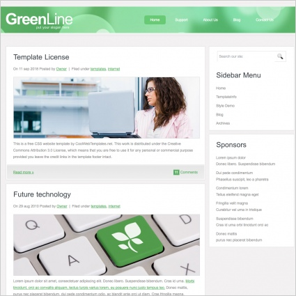 GreenLine Template