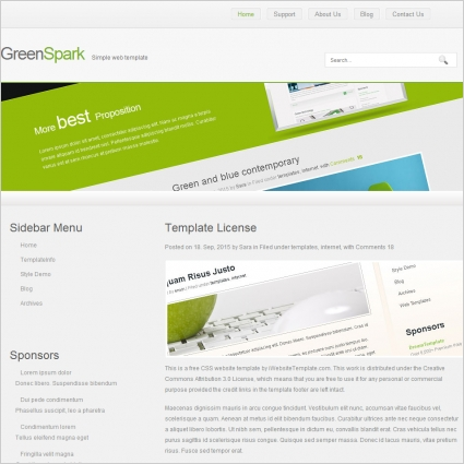 GreenSpark Template