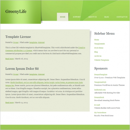 Greeny Life Template