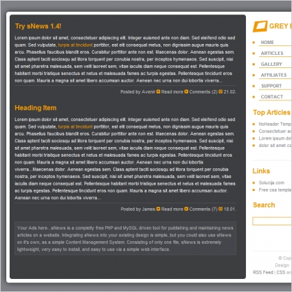 Grey Blog Template
