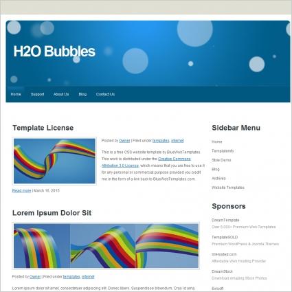 H2O Bubbles Template