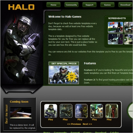 Halo Template Free website templates in css, html, js format