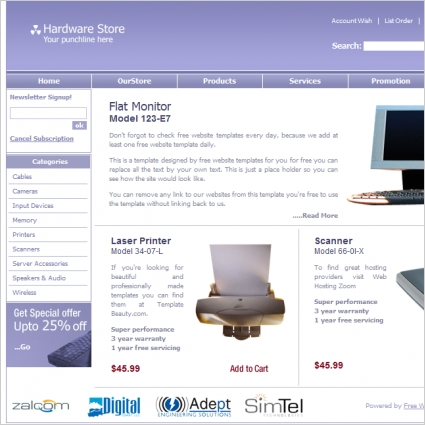 Hardware store template free website templates in css, html, js.