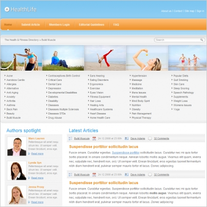 health life template free website templates in css html js format