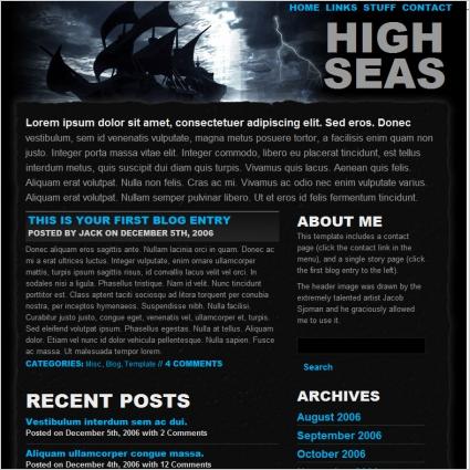 High Seas Template