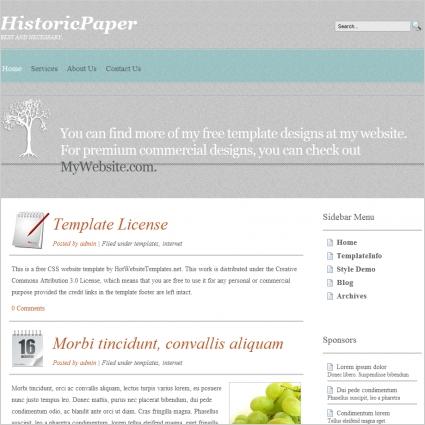 HistoricPaper Template