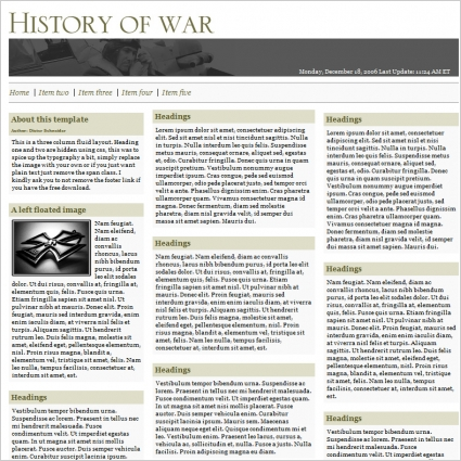 History of War Template