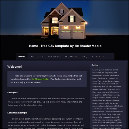 home template free website templates in css html js format for