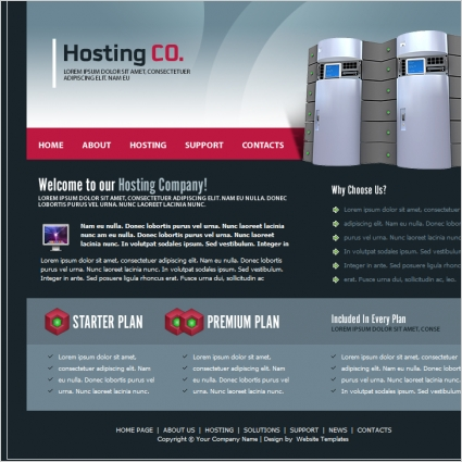 Hosting Co. Template