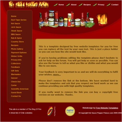 Hot Sauce Template