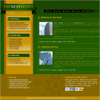 hotel Free website templates in css, html, js format for