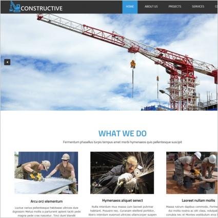 industrial construction website template
