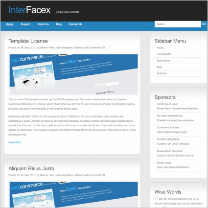 InterFacex Template