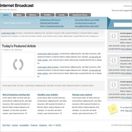 Internet Broadcast Template