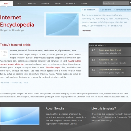 Internet Encyclopedia Template