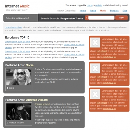 Internet Music Template
