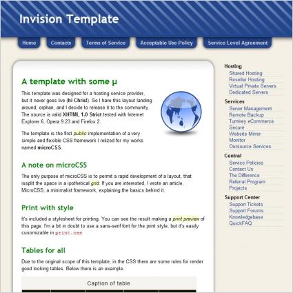 Invision Template