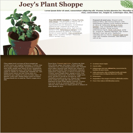 Joeys Plant Shoppe Template