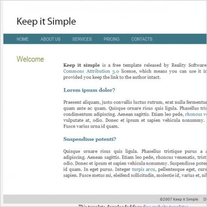 keep it simple template
